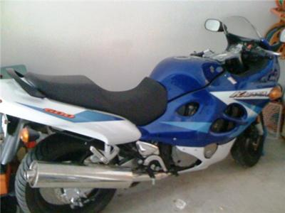 Stretched Royal Blue 2005 Suzuki Katana 600 Sportbike Motorcycle