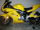 Yellow 2005 Suzuki sv650s