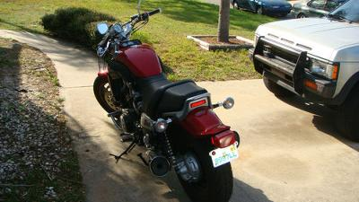 2005 Yamaha V-Max Anniversary Edition Red paint with flames