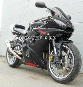 2005 Yamaha YZF600R YZF-R R6 (this photo is for example only; please contact seller for pics of the actual motorcycle for sale in this classified)