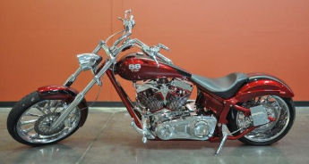 Custom 2006 Big Dog Mastiff K9 Chopper diamond cut heads and the diamond cut air filter housing