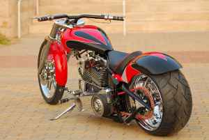 CUSTOM 2006 HARDCORE PRO STREET CHOPPER w softail Pro Street Frame w single down-tube .40 degree rake,6 inch back stretch (example only; please contact seller for pics)