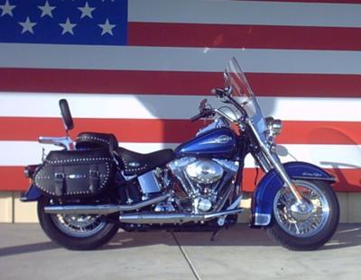 Royal Cobalt Blue 2006 Harley Davidson Heritage Softail Classic