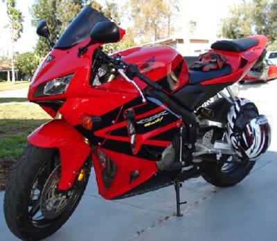 Red 2006 HONDA CBR 600 RR CBR 600RR