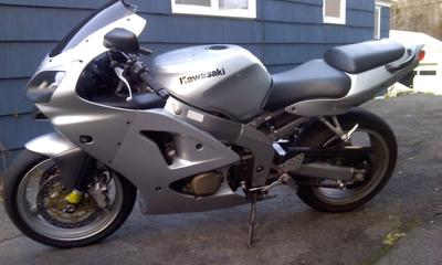 2006 Kawasaki ZZR600 (this motorcycle is for example only; please contact seller for pics of the actual bike for sale)