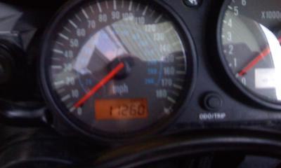2006 Kawasaki ZZR600 odometer