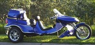 Blue 2333cc 140hp 2006 Roadhawk VW Trike