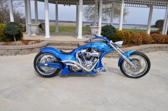 2006 RUCKER PERFORMANCE HOT ROD PREDATOR w VIPER BLUE PAINT with LIVE FLAMES GRAPHICS ARTWORK