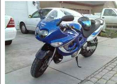 Blue 2006 Suzuki Katana 600