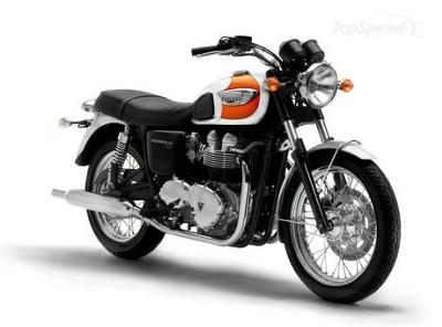 2006 Triumph Bonneville T100 Orange and Cream Creamsicle