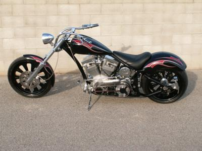 2006 Vicious Cycles Outlaw 2 Cycle w 110ci, rev tech engine, 300 rear tire, 6-spd. Transmission, 3