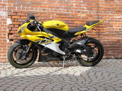 Bright yellow and black low mileage 2006 Yamaha 50th Anniversary Edition YZF R6