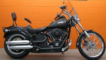 2007 Harley Davidson FXSTB Softail Night Train motorcycle with Black Pearl paint color