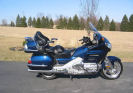 2007 honda goldwing Dark Blue Metallic premium