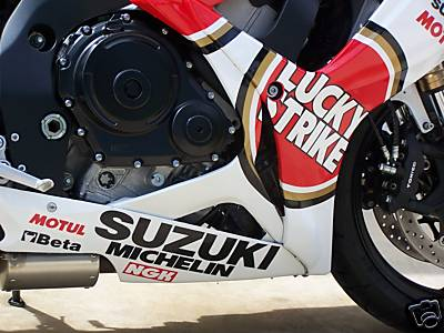 Red and White 2007 Suzuki GSXR 600