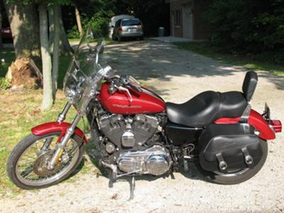 2007 Harley Davidson 1200 Custom Sportster Cherry Red Candy