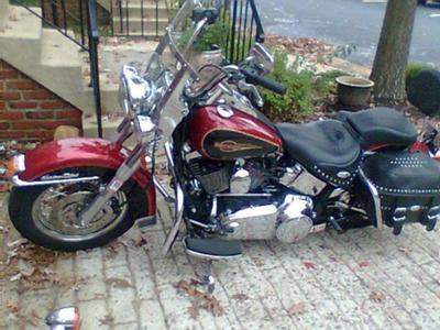 Burgundy 2007 Harley Davidson Heritage Classic