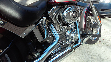 2007 Harley Davidson Softail Custom Screamin Eagle Exhaust Pipes