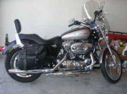 Maroon 2007 Harley Davidson Sportster