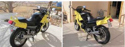 Neon yellow 2007 Kawasaki 250 Ninja