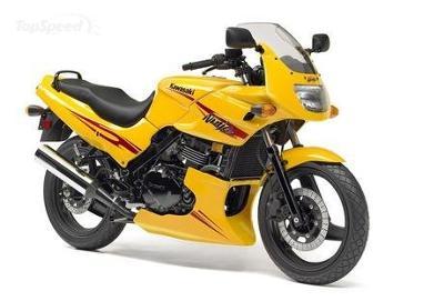 Solar Yellow 2007 Kawasaki Ninja EX500