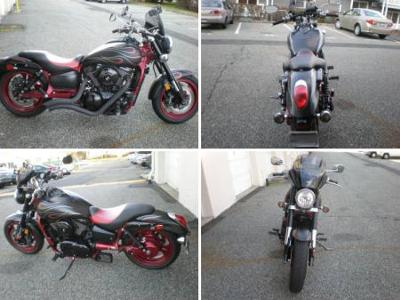 2007 Kawasaki Vulcan Mean Streak Special Edition with custom exhaust system, shaft drive, liquid cooled, inverted forks, fuel injected, hydraulic clutch, 4.5 gallon gas tank, new 17
