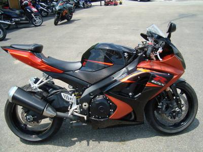Orange and Black 2007 Suzuki GSXR 1000