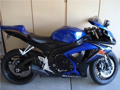 Blue 2007 SUZUKI GSXR 600