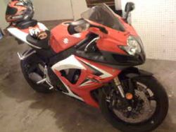 2007 Suzuki GSXR 600 Red Black White