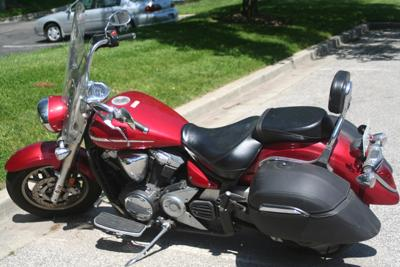 Red with Black Leather 2007 Yamaha VStar 1300 w/ Touring Package