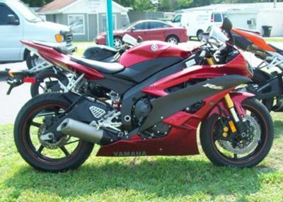 2007 YAMAHA R6 Sport Bike RED BLACK YZF
