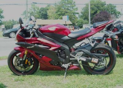 Yamaha Sports Bike 2007 Yamaha r6 Sport Bike Red