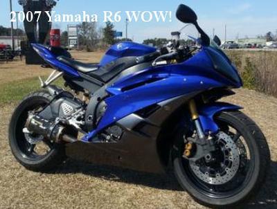 2007 Yamaha R6 w Royal Blue Paint color