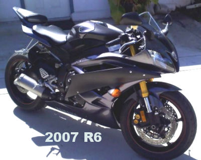 Charcoal gray 2007 yamaha yzf r6 r6 motorcycle