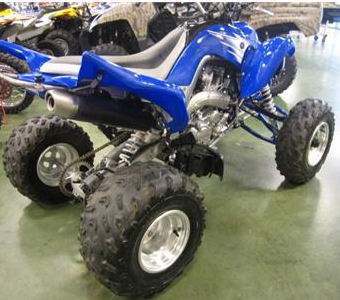 Blue 2007 Yamaha Raptor 700R ATV