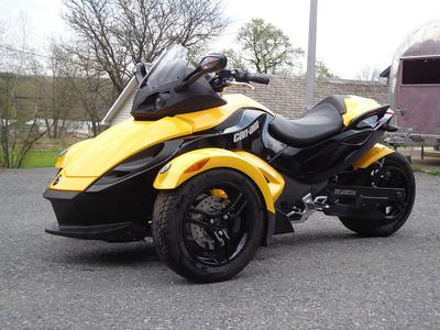 2008 Can Am GS SM5 Spyder in Yellow and Black