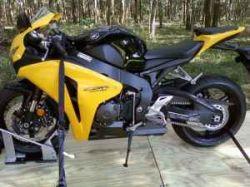 Yellow and Black 2008 Honda CBR 1000 Motorcycle