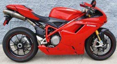 Red 2008 Ducati 1098 Superbike