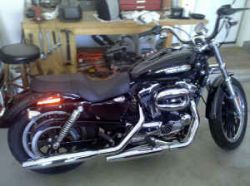 Black and Chrome 2008 Harley Davidson 1200 Sportster XL1200 L