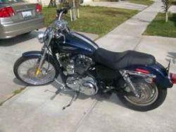 2008 Harley Davidson Custom Sportster Blue Paint