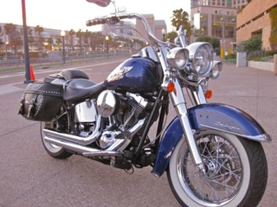 2008 Harley Davidson Deluxe Motorcycle on a Kraft Tech Frame Krafttech