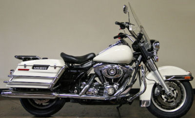 2008 Harley Davidson Road King FLHP Touring Motorcycle w Birch White paint color