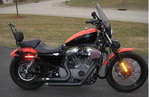 2008 Harley Davidson Sportster Nightster 2 tone custom Black and Orange motorcycle paint