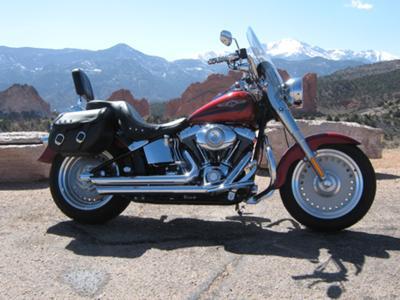 Ruby Red  2008 Davidson Harley Fatboy