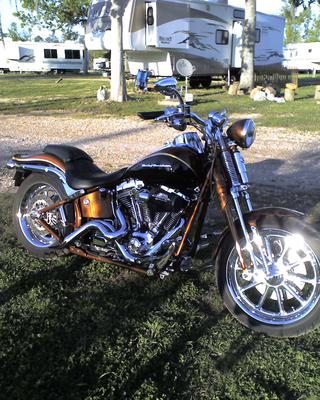 2008 HARLEY CVO SPRINGER SOFTAIL Picture