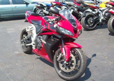 2008 HONDA CBR 600 RR RED and BLACK