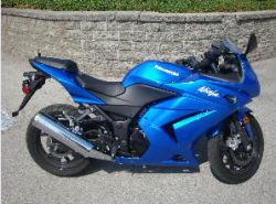 2008 custom paint electric blue kawasaki ninja 250r racing sport bike motorcycle