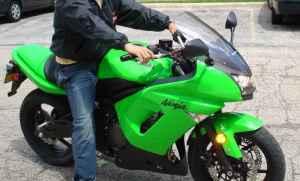 lime green 2008 Kawasaki Ninja 650R
