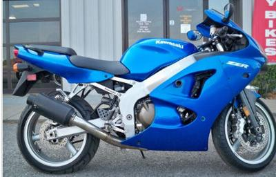 2008 Kawasaki ZZR 600 w blue paint color option