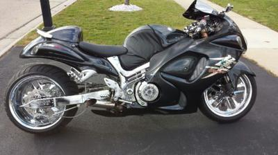 Black 2008 Suzuki Hayabusa with a phantom gray paint color option